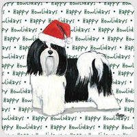 "Havanese, Black and White ""Happy Howlidays"" Coaster"