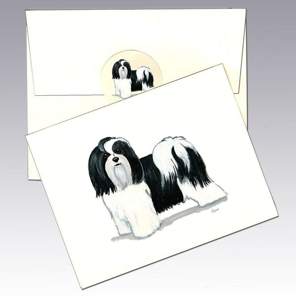 Havanese, Black and White Note Cards