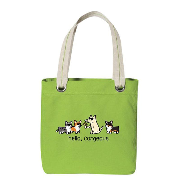 Hello, Corgeous - Canvas Tote