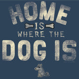 home is where the dog is ladies v neck t-shirt