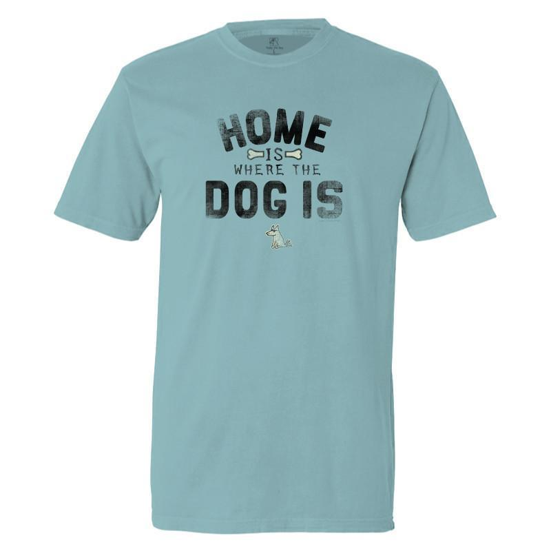 home is where the dog is garment dyed classic t-shirt