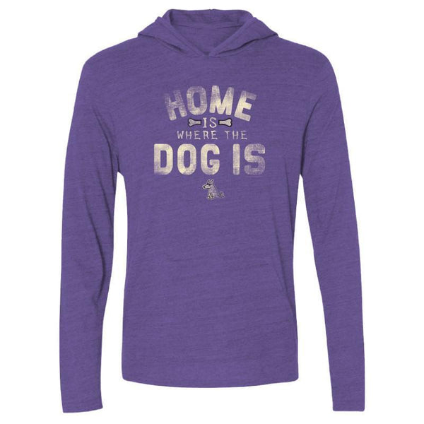 home is where the dog is long sleeve t shirt with hoodie