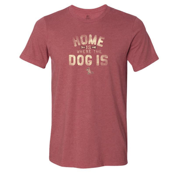 home is where the dog is lightweight t-shirt