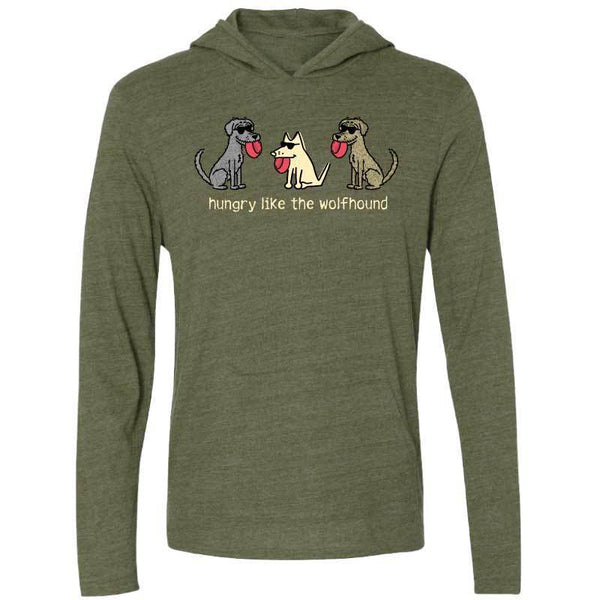 Hungry Like The Wolfhound - Long-Sleeve Shirt Hoodie