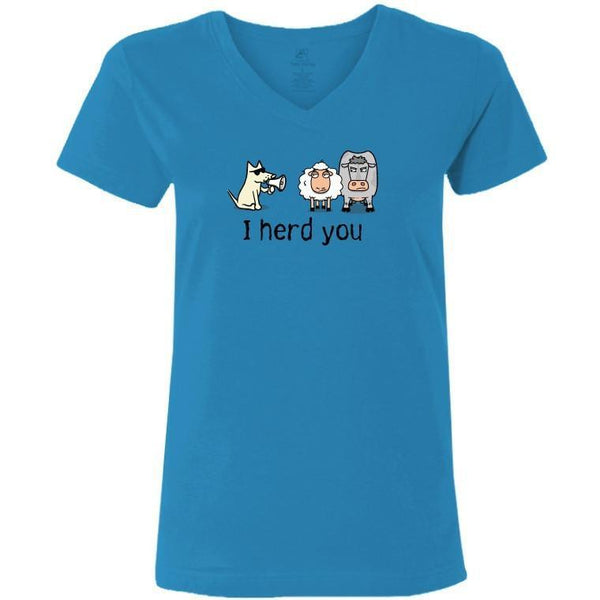 i herd you ladies v neck t-shirt