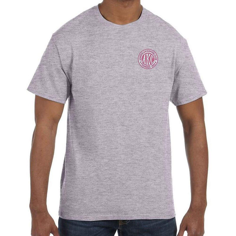 AKC Breast Cancer Awareness Embroidered Mens T-Shirt
