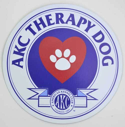 AKC Therapy Dog Magnet