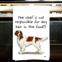 Irish Red and White Setter Tea Towel