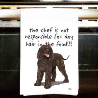 Irish Water Spaniel Tea Towel