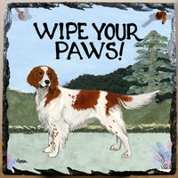 Irish Red and White Setter Slate Sign
