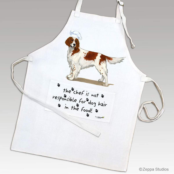 Irish Red and White Setter Apron