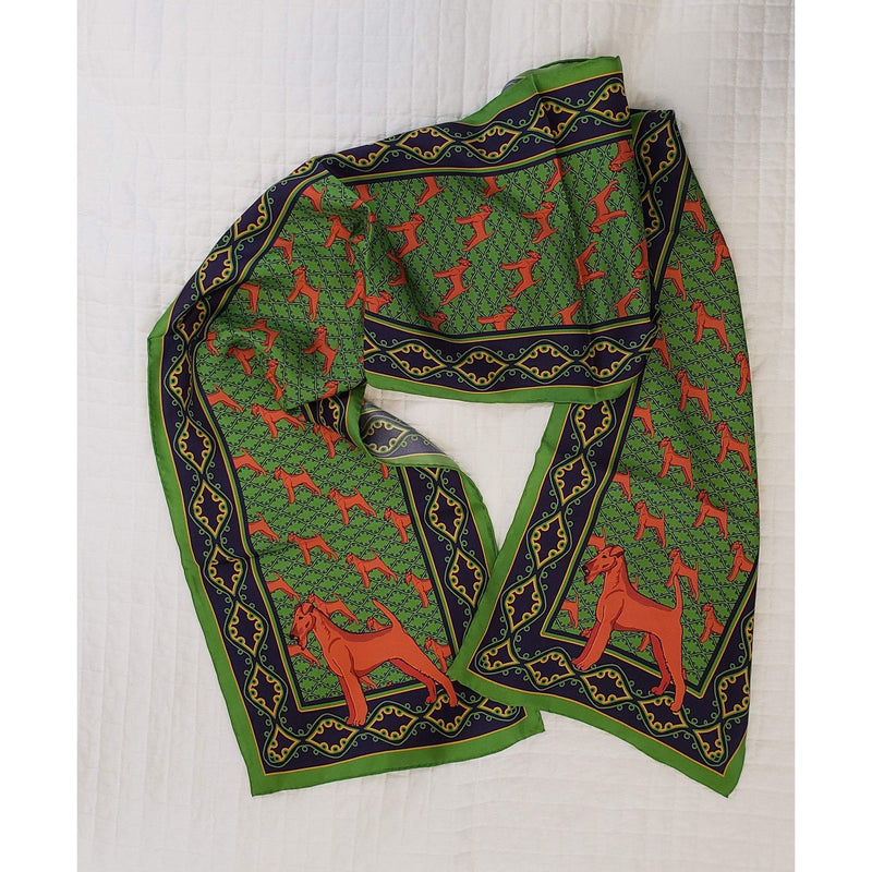 Irish Terrier Oblong Silk Scarf