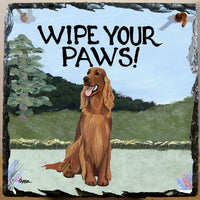Irish Setter Slate Sign