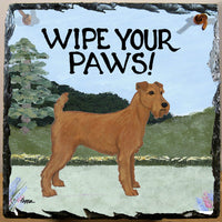 Irish Terrier Slate Sign