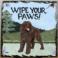 Irish Water Spaniel Slate Sign