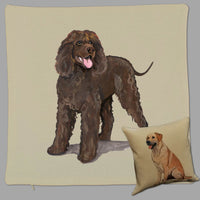Irish Water Spaniel Pillow Cover
