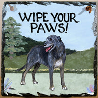 Irish Wolfhound Slate Sign