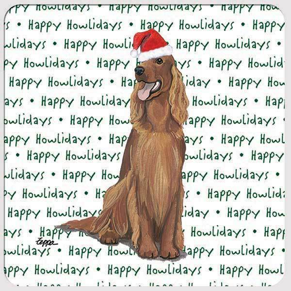 "Irish Setter ""Happy Howlidays"" Coaster"