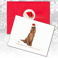 Irish Setter Christmas Note Cards