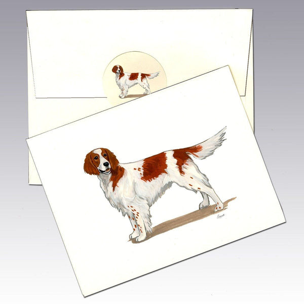 Irish Red and White Setter Note Cards