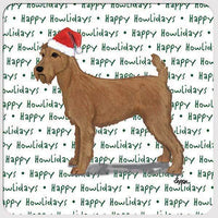 "Irish Terrier ""Happy Howlidays"" Coaster"