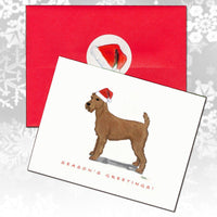 Irish Terrier Christmas Note Cards