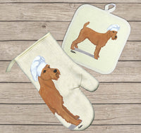 Irish Terrier Oven Mitt and Pot Holder