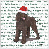 "Irish Water Spaniel ""Happy Howlidays"" Coaster"