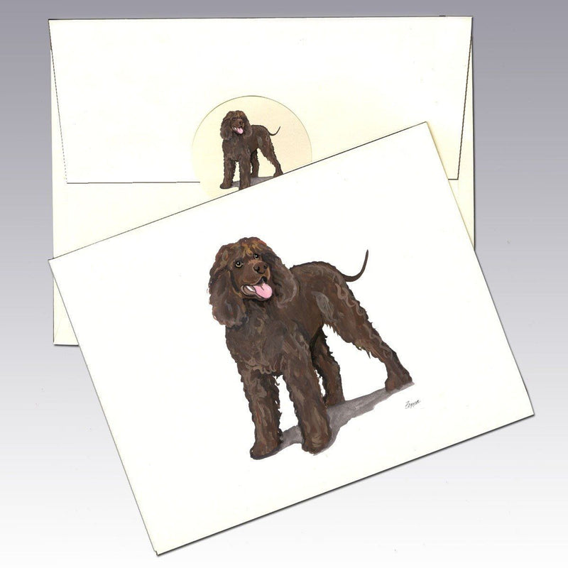 Irish Water Spaniel Note Cards