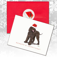 Irish Water Spaniel Christmas Note Cards