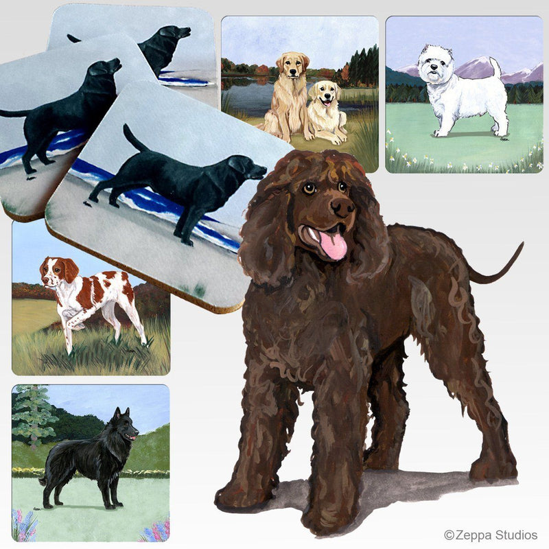 Irish Water Spaniel Scenic Coaster