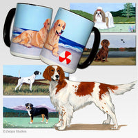 Irish Red and White Setter Scenic Mug