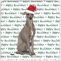 "Italian Greyhound ""Happy Howlidays"" Coaster"