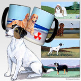 Russell Terrier, Brown and White Scenic Mug