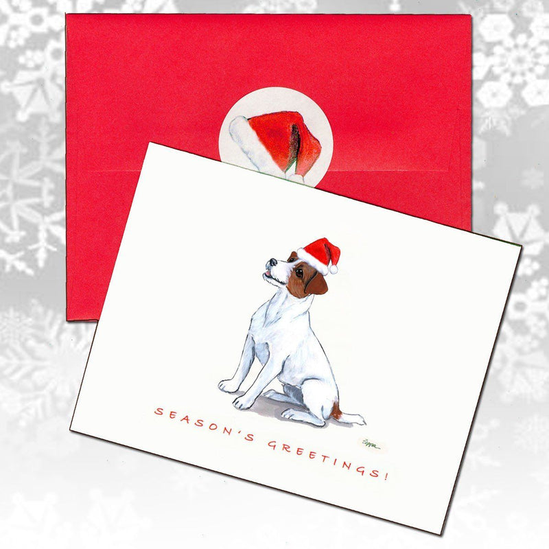 Russell Terrier, Brown and White Christmas Note Cards