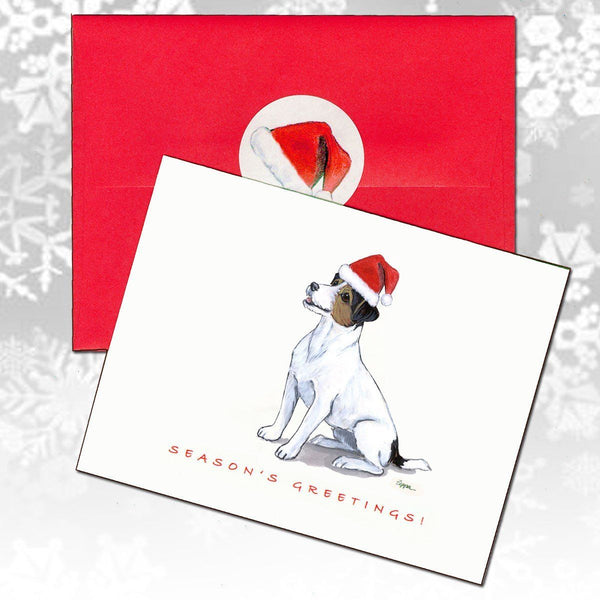 Russell Terrier, Tri Color Christmas Note Cards