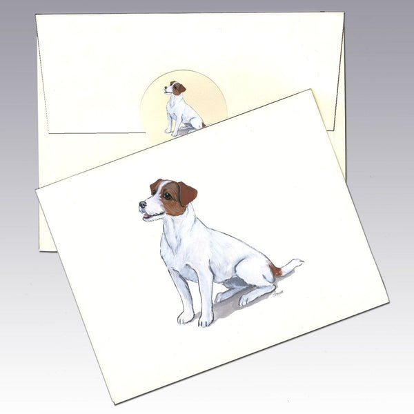 Jack Russell Terrier, Brown and White Note Cards
