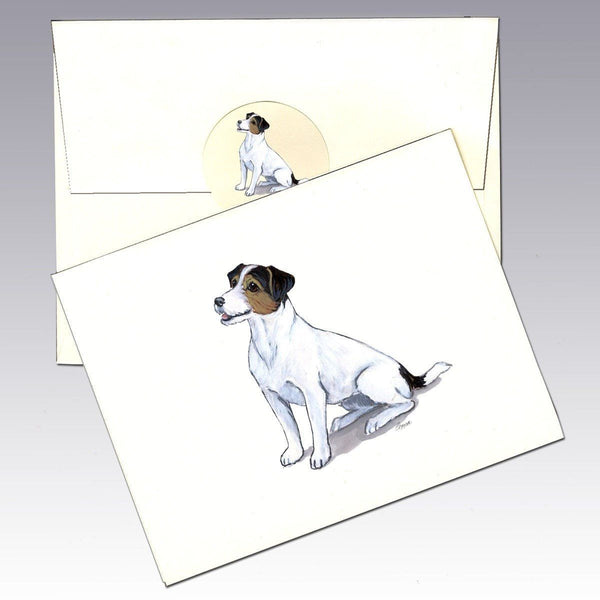 Jack Russell Terrier, Tri Color Note Cards