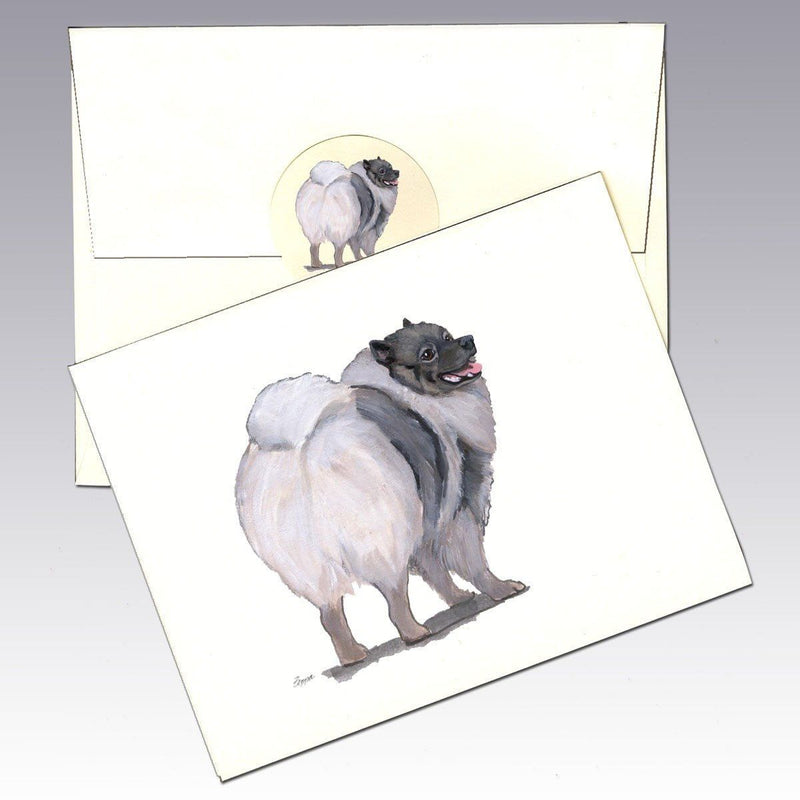 Keeshond Note Cards