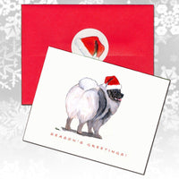 Keeshond Christmas Note Cards