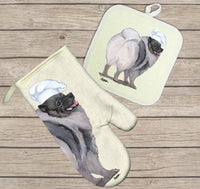 Keeshond Oven Mitt and Pot Holder