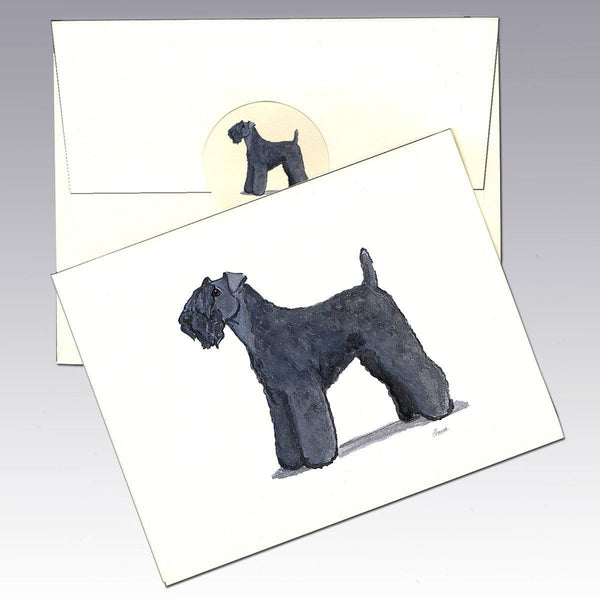 Kerry Blue Terrier Note Cards