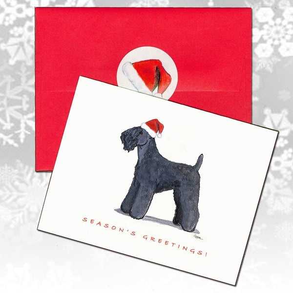 Kerry Blue Terrier Christmas Note Cards