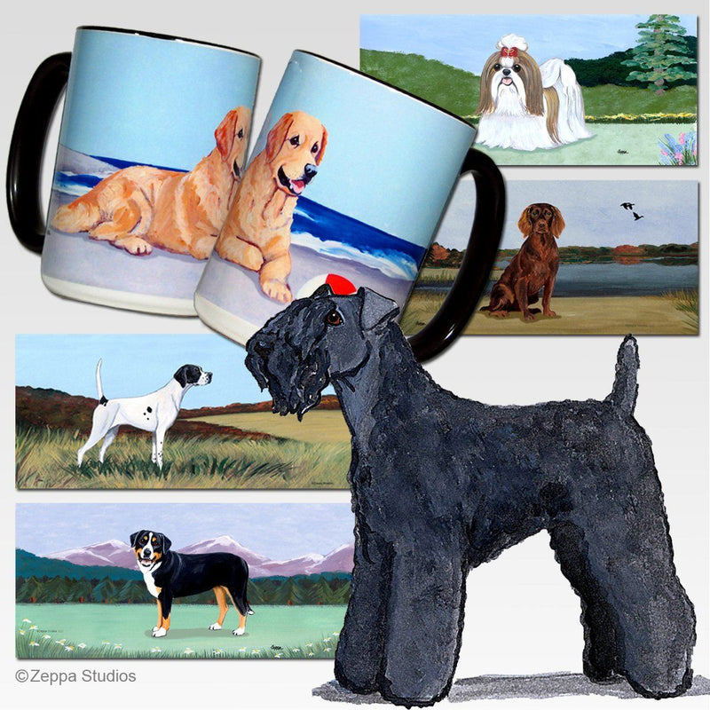 Kerry Blue Terrier Scenic Mug