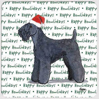 "Kerry Blue Terrier ""Happy Howlidays"" Coaster"