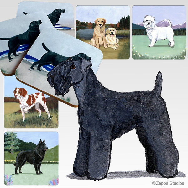 Kerry Blue Terrier Scenic Coaster
