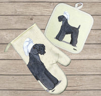 Kerry Blue Terrier Oven Mitt and Pot Holder