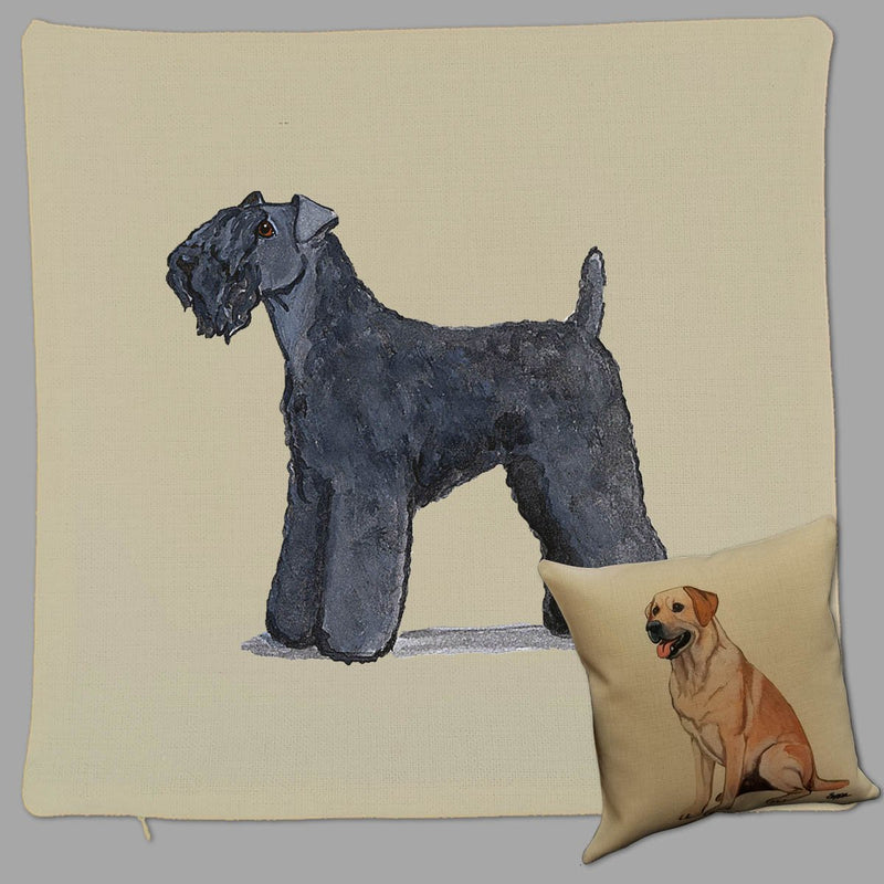 Kerry Blue Terrier Pillow Cover
