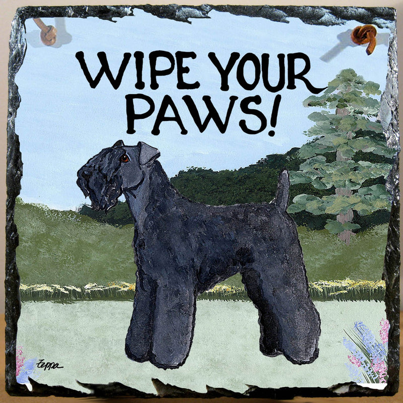 Kerry Blue Terrier Slate Sign
