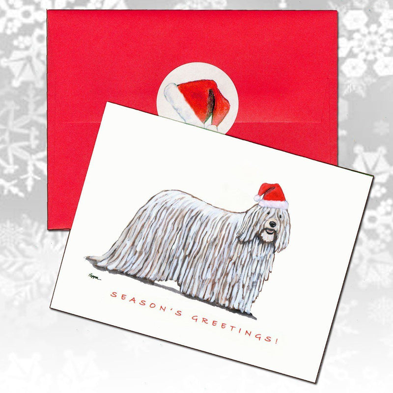 Komondor Christmas Note Cards